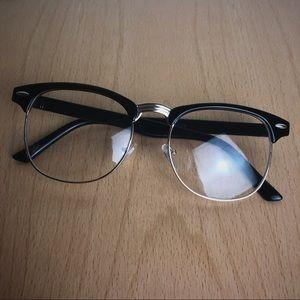 Other - Black Gold Vintage Clear Lens Glasses